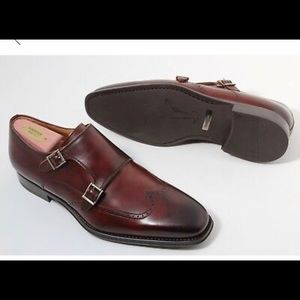 Magnanni Castor Double Buckle Monk Loafers Brown